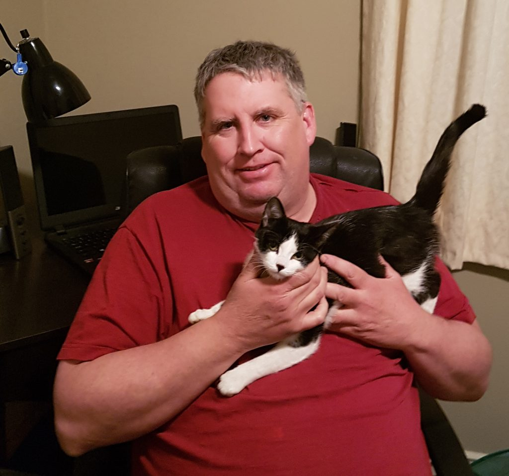 Patrick G and Kitten - warm at home