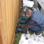 Placing rodent trap outside