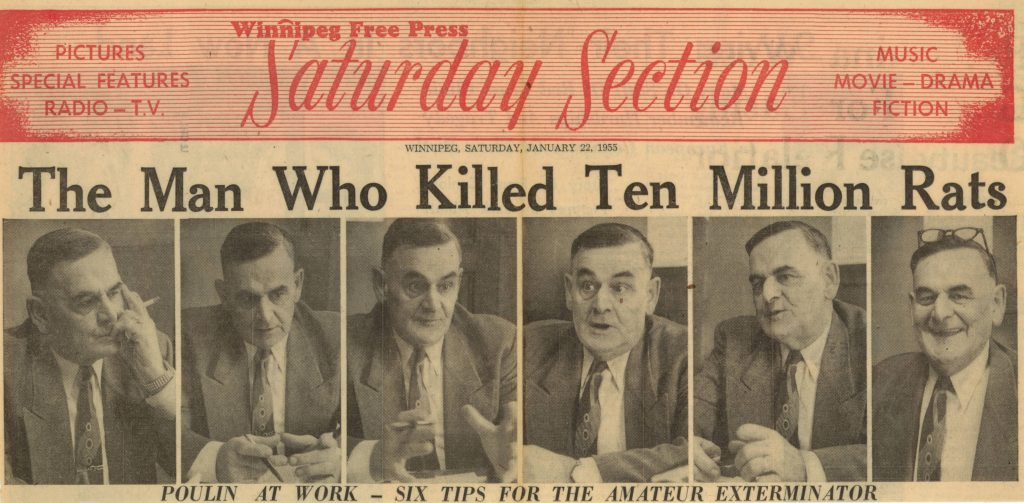 The Man Who Killed 10 Million Rats Newspaper Article